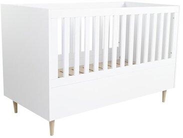 Lit bébé 3 en 1 SCANDI 140x70 - Blanc