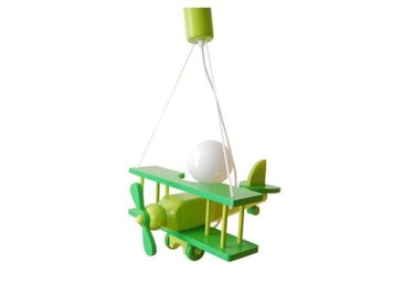 Luminaire avion vert pour chambre bébé