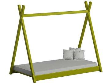 Lit cabane Tipi pour enfant - Vert - 70 cm x 160 cm