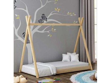 Lit cabane Tipi pour enfant - Pin - 70 cm x 160 cm