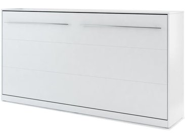 Lit armoire escamotable blanc mat - 90 cm x 200 cm