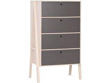 Commode 4 tiroirs Spot Young pour enfant - Graphite