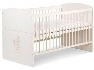 Lit bébé évolutif décor lapin - Ecru -