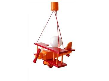 Luminaire Petit Avion Orange / Rouge