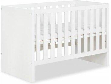 Lit bébé évolutif Amélia 120x60cm - Blanc