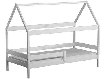 Lit cabane en bois Domek - Blanc - 90 cm x 180 cm