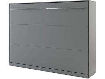 Lit armoire escamotable gris - 140 cm x 200 cm