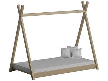 Lit cabane Tipi pour enfant - Vanille - 70 cm x 160 cm