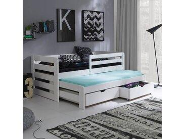 Lit gigogne Senso pour enfant personnalisable - Blanc - 90 cm x 190 cm