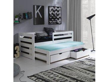 Lit gigogne Senso - 4 couleurs - Blanc - 90 cm x 190 cm