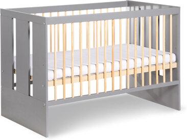 Lit bébé à barreaux graphite pas cher Paula Graphite 60 cm x 120 cm Bois massif petitechambre.fr