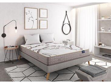 Matelas Mousse  NATURA à mémoire de forme VISCOSOJA® 140x190 blanc/beige