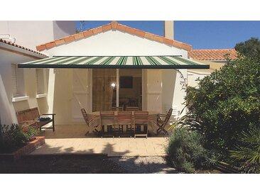 Store coffre Lisboa anthracite manuel rayé vert 4 x 3 m