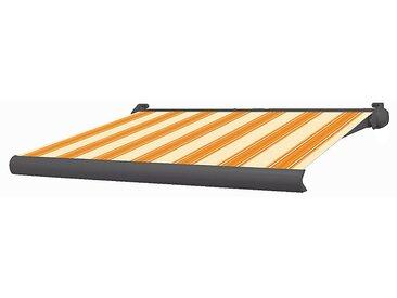 Store coffre Ottawa aluminium rayé jaune/orange manuel 3 x 2