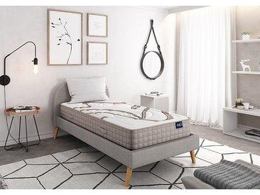 Matelas Mousse NATURA à mémoire de forme VISCOSOJA® 90x190 blanc/beige