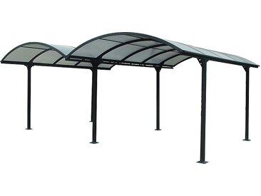 Carport aluminium HABRITA 2 voitures 28,6 m²