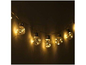 """IDMarket """"Guirlande 10 ampoules solaires à filaments pour jardin"""""""