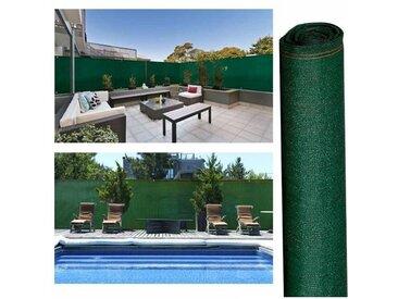 """IDMarket """"Brise vue haute densité 1,2x10m 300 gr/m² vert qualité pro"""""""