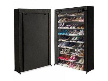 """IDMarket """"Étagère range chaussures 50 paires housse noire"""""""