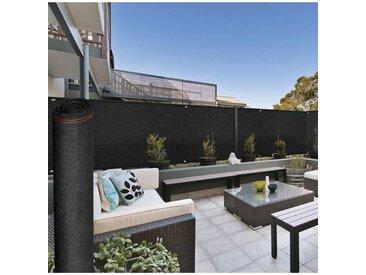 """IDMarket """"Brise vue haute densité NOIR 1,5 x 10 m 300 gr/m² qualité pro"""""""