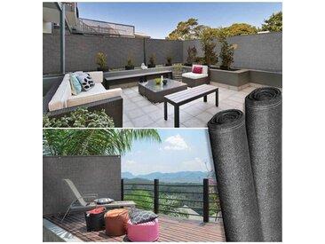 """IDMarket """"Brise vue haute densité 1,2 x 10 m gris 300 gr/m² qualité pro"""""""