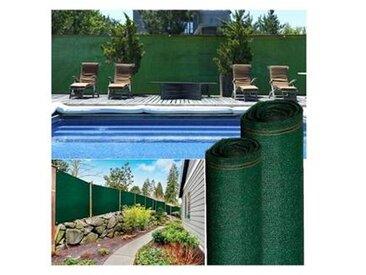 probache Brise vue haute densité vert 1,8 x 10 m 300 gr/m² qualité pro