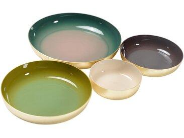 Assiettes décoratives colorées OLIA (set de 4) - ZAGO