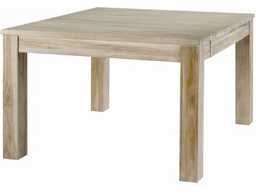 Table carrée en teck lin 120 cm +1 allonge 50cm Cosmopolitan - ZAGO