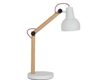 Lampe de bureau ajustable  bois et métal blanc Study - ZAGO