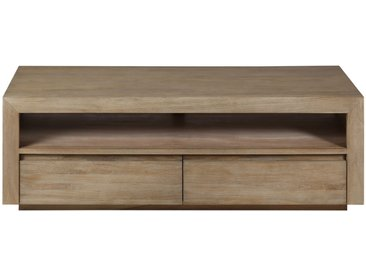 Meuble TV teck lin 1 niche 2 tiroirs Cosmopolitan - ZAGO