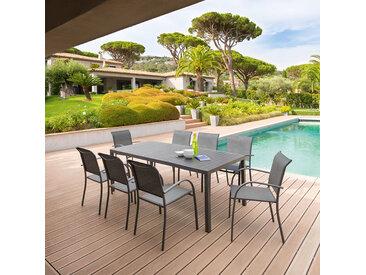 Table de jardin rectangulaire Piazza Graphite