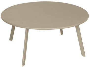 Table d'appoint de jardin ronde Saona Taupe