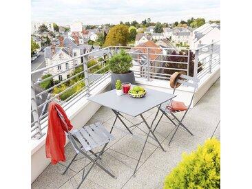 Table de jardin pliante carrée Camargue Ardoise mat