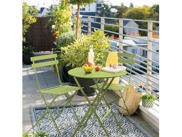 Table de jardin pliante ronde Camargue Granny brillant