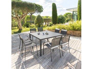 Table de jardin carrée Piazza Graphite