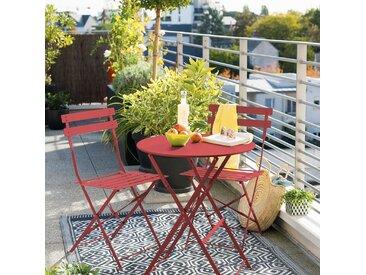 Table de jardin pliante ronde Camargue Groseille mat