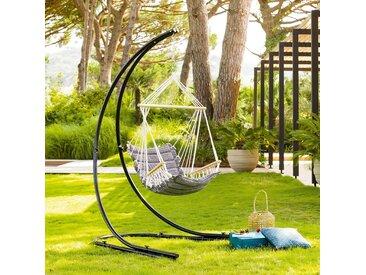 Chaise de détente suspendue Jinja Noir & Blanc