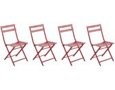 Lot de 4 chaises de jardin pliantes Greensboro Groseille