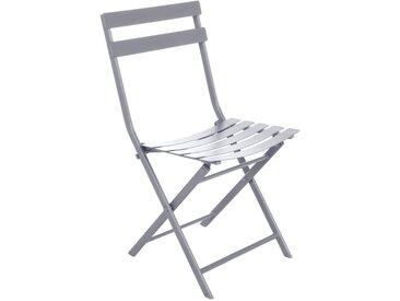 Lot de 4 chaises de jardin pliantes Greensboro Gris quartz