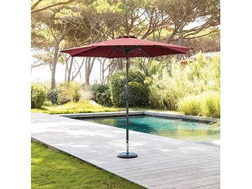 Parasol droit rond inclinable Fidji Bordeaux
