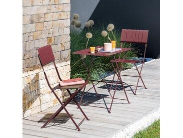 Table de jardin pliante Nasca Bordeaux