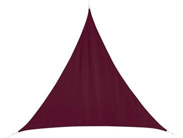 Voile d'ombrage triangulaire Curacao Bordeaux