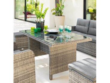 Table de jardin rectangulaire Mayari Terre d'ombre