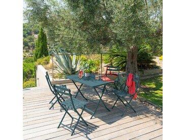 Table de jardin pliante rectangulaire Greensboro Bleu canard