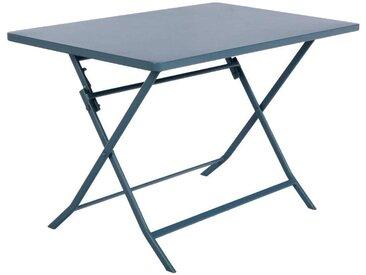 Table de jardin pliante rectangulaire Greensboro Bleu orage