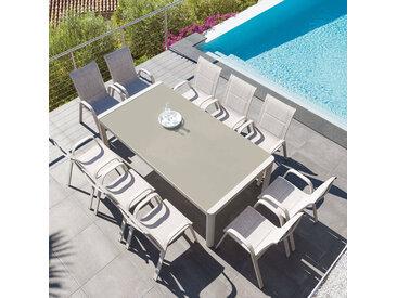 Table de jardin rectangulaire Absolu Taupe