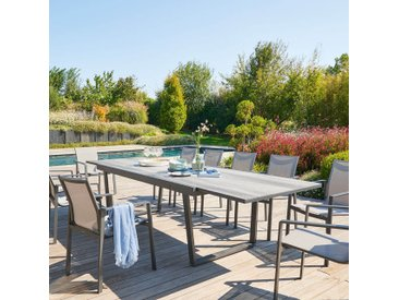 Table de jardin extensible Unione Smoke grey & Graphite