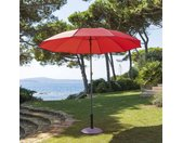 Parasol droit inclinable rond Bogota Coquelicot