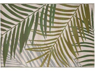 Tapis d'intérieur et d'extérieur motif Tropical Green