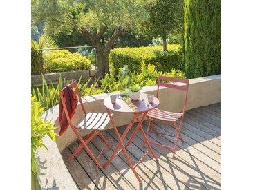 Table de jardin pliante ronde Greensboro Terracotta